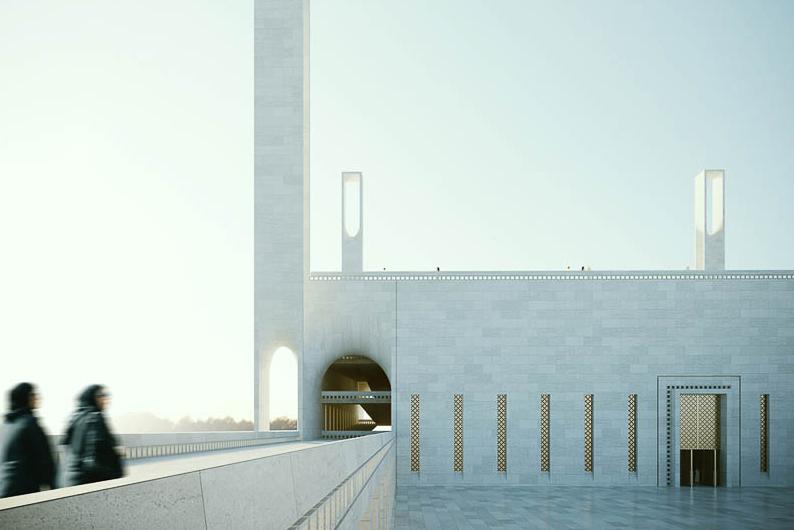 Iconic Mosque at Dubai Creek Harbor